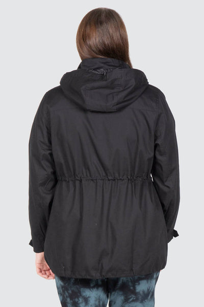 Chicago Fur Trim Anorak - Black