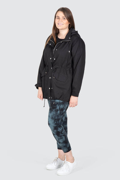 Chicago Fur Trim Anorak - Black, Love Your Wardrobe, women's plus size jackets