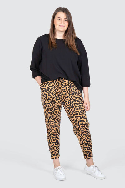 Tori Knit Animal Print Jogger - Animal Print, Love Your Wardrobe, women's plus size pants