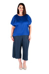 CAPRI PANTS DEEP WATER, Coral & Co, Coral and Co, women's plus size pants