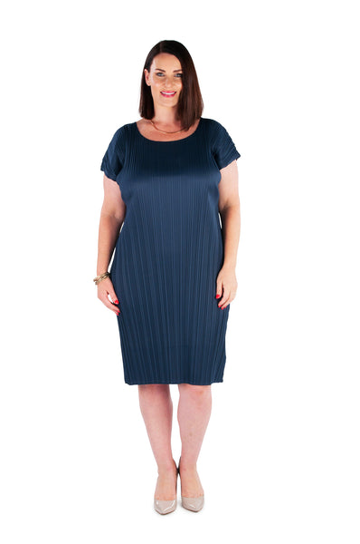 DRESS MID-LENGTH  - DEEP WATER, Coral & Co, Coral and Co, women's plus size dress