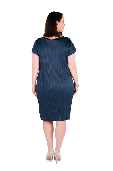 CLASSIC SHIFT DRESS DEEP WATER,,