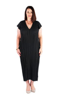 DRESS LONG MIDNIGHT BLACK, Coral & Co, Coral and Co, women's plus size dress