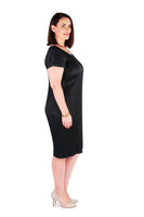 CLASSIC SHIFT DRESS MIDNIGHT BLACK,,