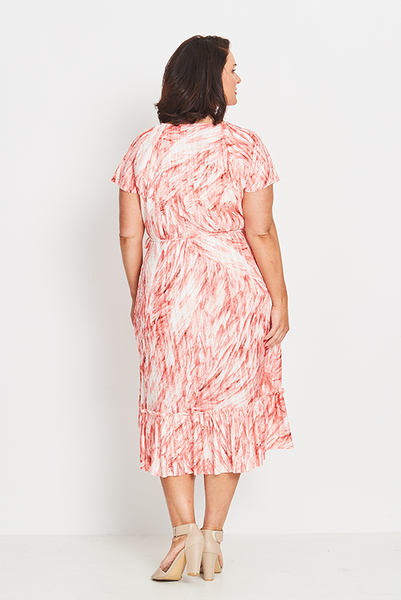Dress Wrap Ruffled – Coral Feathers