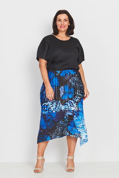 Skirt A-Line – Forest Butterflies, Coral & Co, Coral and Co, women's plus size skirt