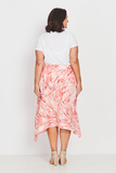 Skirt A-Line – Coral Feathers,,