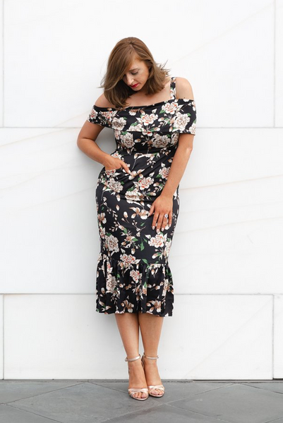 Chloe | Floral, Revoque, women's plus size dress