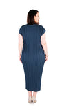 DRESS LONG BLUE DEEP WATER,,