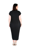 DRESS LONG MIDNIGHT BLACK,,