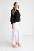 Geranium Lace Shoulder Blouse - Onyx,,