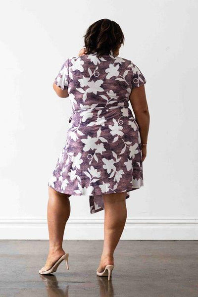 Hollywood Wrap Dress - Pink & White Floral