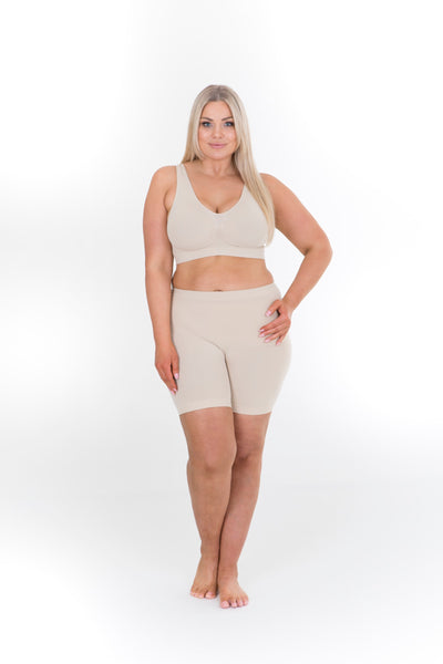ANTI CHAFING SHORTS SHORT LEG - NUDE, Sonsee, women's plus size shorts