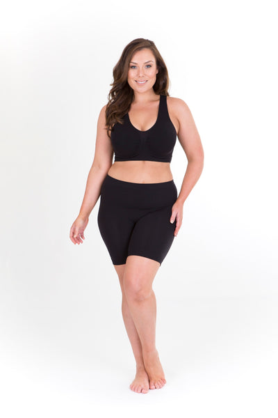 ANTI CHAFING SHORTS SHORT LEG - BLACK, Sonsee, women's plus size shorts