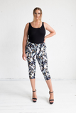 3/4 Tigerlily Pants in Cosmos Print, Monica The Label, women's plus size pants