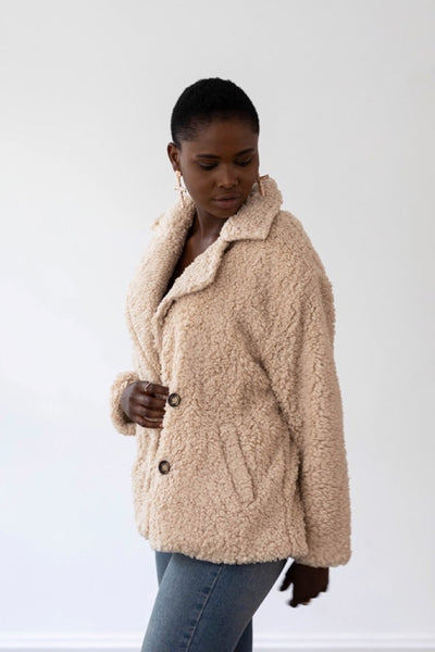 Lux Teddy Coat - Oatmeal