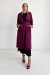 Viola Suede Coat - Rich Plum, Monica The Label, women's plus size coat