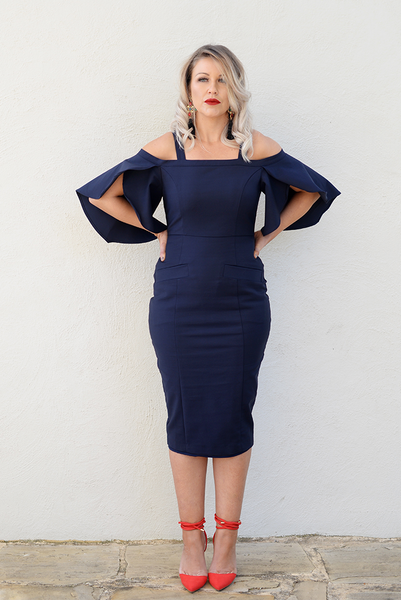ZOE DRESS - MIDNIGHT BLUE, Revoque, women's plus size dress