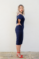 ZOE DRESS - MIDNIGHT BLUE,,