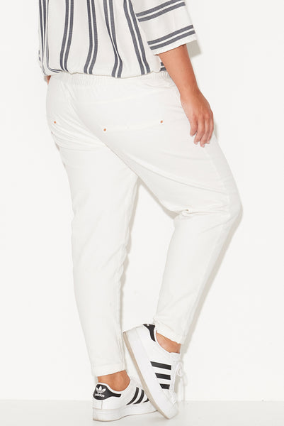FINKS PANEL JOGGERS - WHITE