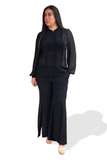 Primrose Pleated Blouse - Black, Monica The Label, women's plus size tops