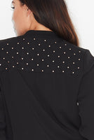 QUILTED BOMBER JACKET - BLACK,,