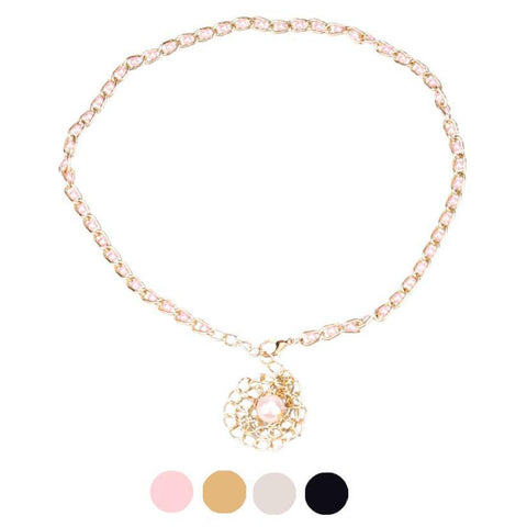 JECKSION Body Chain Flower Belt Women Pearl Waist Belt Waist Chain Free Shipping #LSIN