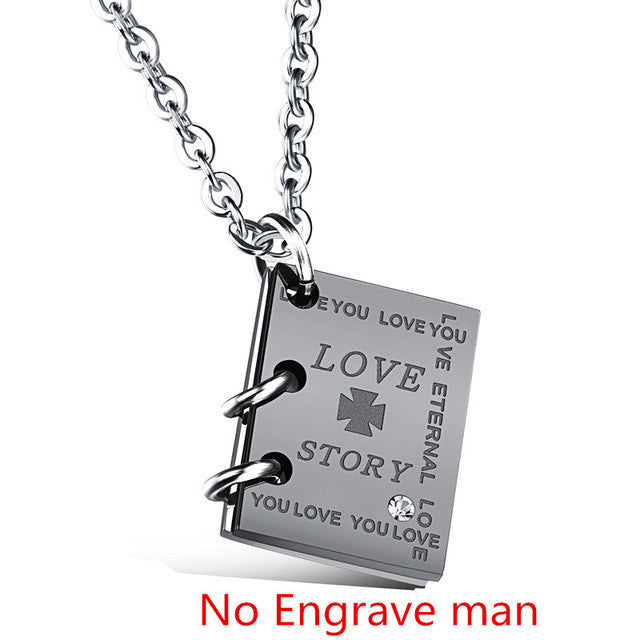 ... GAGAFEEL Necklace Women Men Pendants Necklaces Custom Engraved Jewelry  Square Lovers Zircon Love Story Words Valentines ... 9dccbb99e9