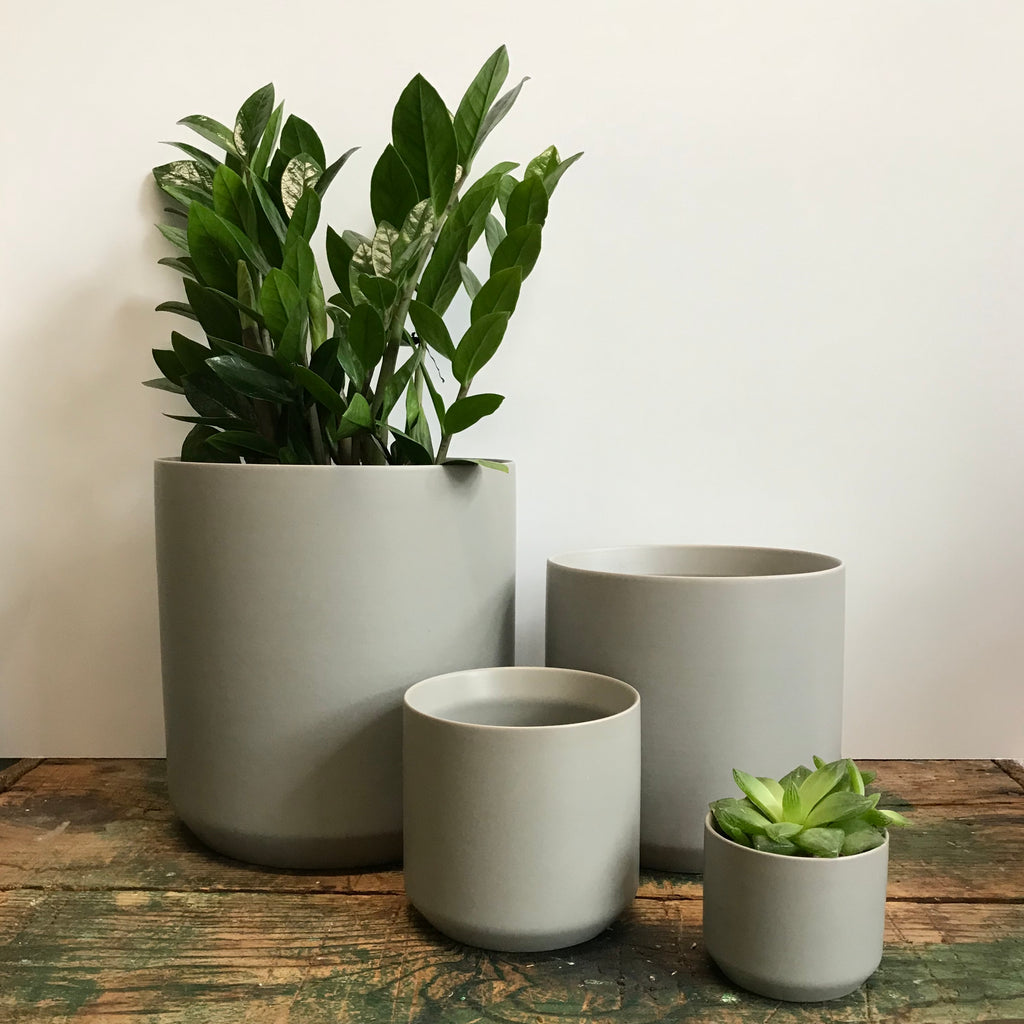 Matte Grey Ceramic Pot