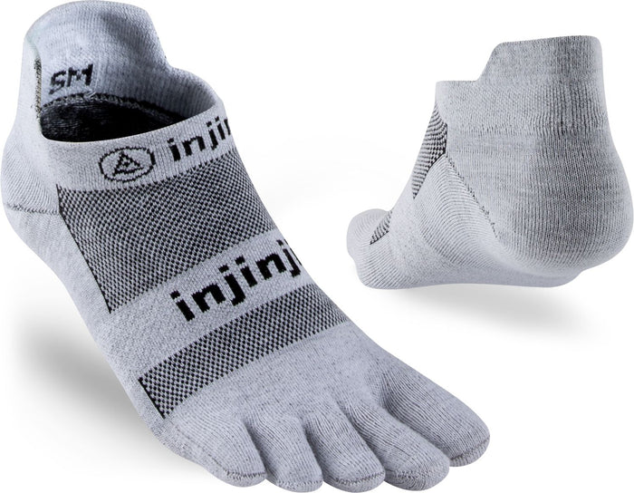 Injinji Run Lightweight No-Show Gray