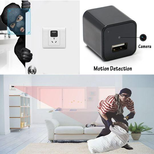 1080p HD Spy Camera Hidden in USB Wall Charger
