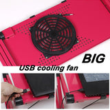 Portable Laptop Desk With Mouse Pad and Cooling Fan