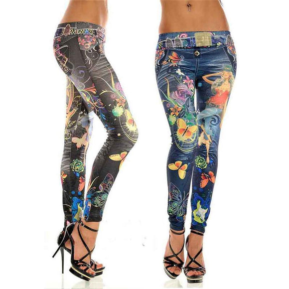 Sexy Womens Skinny Blue Jean Denim Leggings Stretchy Jeggings Pants