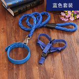 Pet circle pet dog leash harness collar sets nylon dog leash