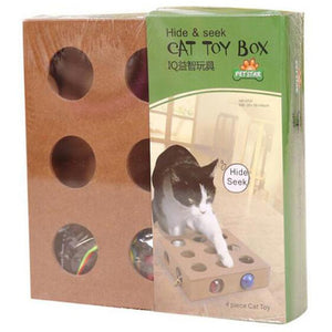 Peek & Play Cat Toy Box - Fun for your Cats