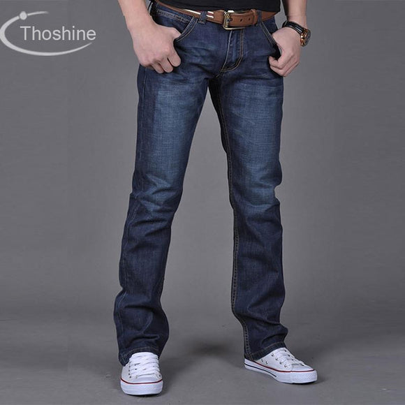 Thoshine 2017 Spring Summer Autumn Men Straight Jeans Male Casual Denim Pants Adult Full Length Trousers Plus Size Clothing