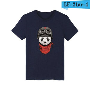 LUCKYFRIDAYF women and men panda T-shirt summer panda t shirt homme t shirt men hip hop pandaT-shirts clothing