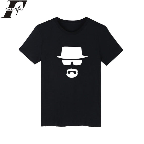 LUCKYFRIDAYF women and men Heisenberg skull in Breaking Bad T-shirt summer t shirt homme t shirt men hip hop T-shirts clothing