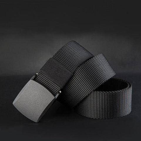 New Belts Men High Quality Canvas Belt Casual belts fast dry Plastic Automatic Buckle 110-140cm