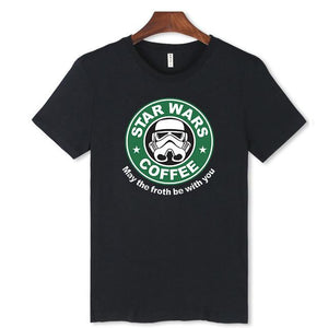 LUCKYFRIDAYF  Star Wars T-shirt Summer Star Wars  T Shirt Homme T Shirt Men Hip Hop Star Wars T-shirts Clothing Fun T-shirt 4XL