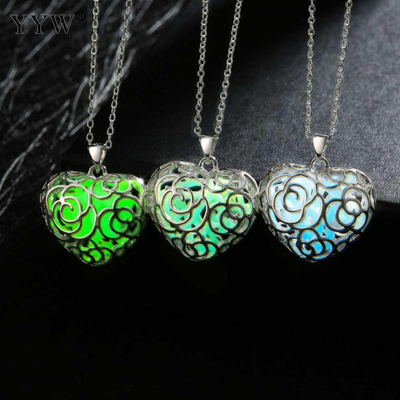 Luminous Stone Vintage Pendant Necklace - Glow In The Dark