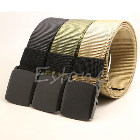 Automatic Buckle Belt Men Canvas Belt