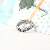"""When I am with my pet..I am complete"" Paw printed Ring"