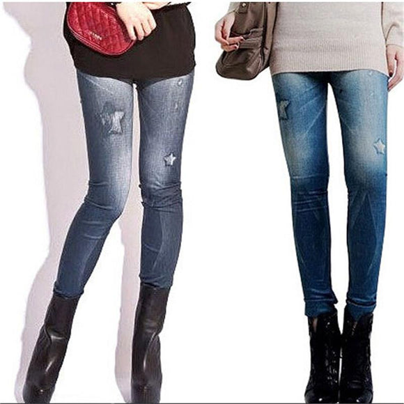 Women Vintage Jeans Tights Pants Trouser Tight Stretch Skinny Leggings