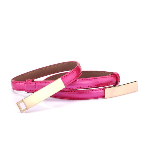 Korean version of the classic wild female minimalist thin belt women's belt women's fashion belt leather belt