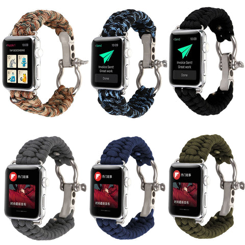 Apple Watch Men's Sports Survival Rope Band