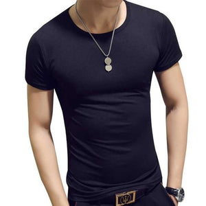 Man'S T-Shirt Summer Fashion Solid Color Men Tshirt Fun Army Bodybuilding Mens Compression Short Sleeve Clothing Men's Tops Tees