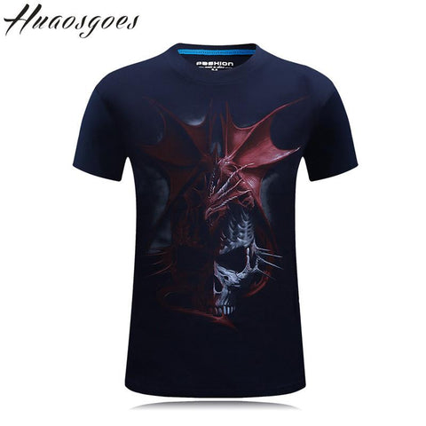 New Fashion Brand T-shirt Hip Hop 3d Print Skulls dragons Animation 3d T shirt Summer Cool Tees Tops Brand Clothing plus size