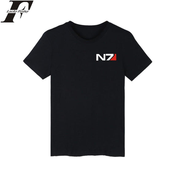 LUCKYFRIDAYF women and men Mass Effect T-shirt summer Mass Effect t shirt homme t shirt men hip hop Mass EffectT-shirts clothing