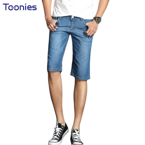 Jeans Shorts for Male Men's Summer Denim Shorts Male Straight Short Pants Slim Men Knee Pants Loose Size 2017 New Type Hot Sale